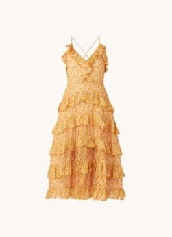 Maje Maje Rissol midi jurk met bloemenprint en volant