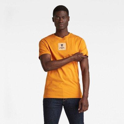 G-Star RAW Center Logo Badge T-Shirt - Oranje - Heren
