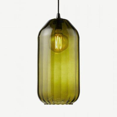 MADE.COM Andes hoge lampenkap, smaragdgroen glas