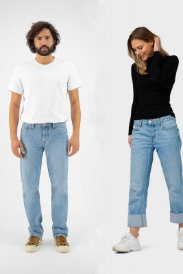 MUD Jeans MUD Jeans unisex vegan Jeans Relax Fred Lichtblauw Lichtblauw W28 L32 Biologisch katoen/Gerecycled katoen