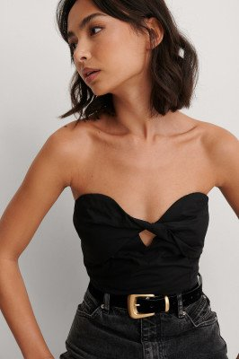 NA-KD Party NA-KD Party Cropped Top - Black