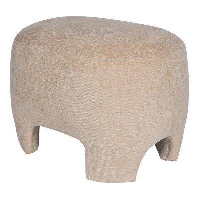 Firawonen.nl PTMD Damin Sand linen velvet look stool KD