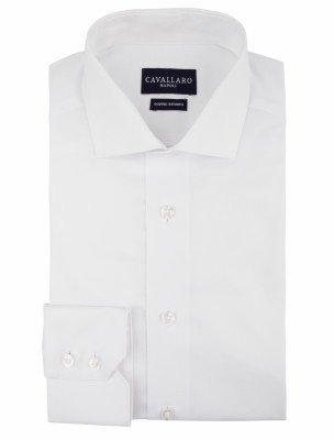 Cavallaro Napoli Cavallaro Napoli Heren Overhemd - Nosto Oxford White Overhemd - Wit