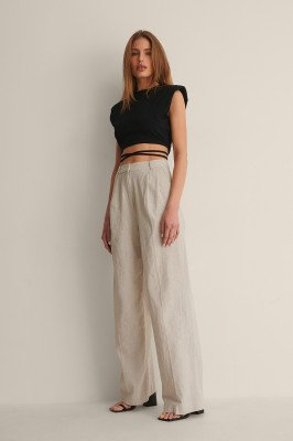 Curated Styles Curated Styles Linnenmix Pantalon - Beige