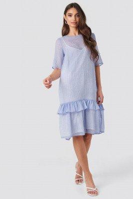 NA-KD Trend NA-KD Trend Flowy Dotted Dress - Purple