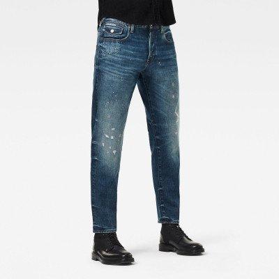 G-Star RAW Morry 3D Relaxed Tapered Selvedge Jeans - Midden blauw - Heren