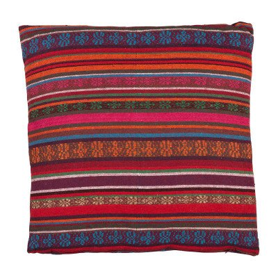 Xenos Kussen Mexican - rood/paars - 45x45 cm