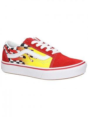 Vans Vans Comfycush Old Skool Flame Sneakers rood