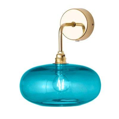 Ebb en Flow EBB & FLOW Horizon arm-wandlamp goud/blauw Ø 21 cm