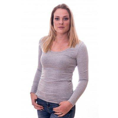Claesens Claesens Women T-shirt o-neck longsleeve Light Grey ( 8016)