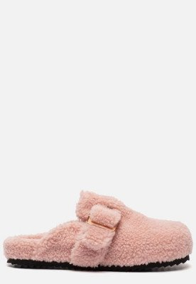 Colors of California Colors of California Furry Sabot pantoffels roze