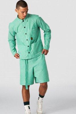 Kings of indigo Kings of Indigo - VLAD shirt long sleeve Male - Green