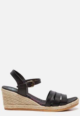 Panama Jack Panama Jack Isa B803 sandalen met sleehak zwart