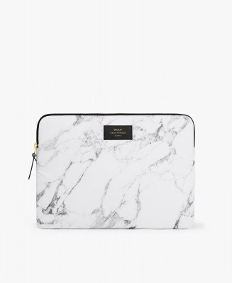 """Wouf Wouf White Marble 13"""" Laptop Sleeve"""