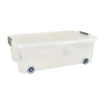 Xenos Onder-het-bed clipbox - transparant - 59,3x38x20 cm
