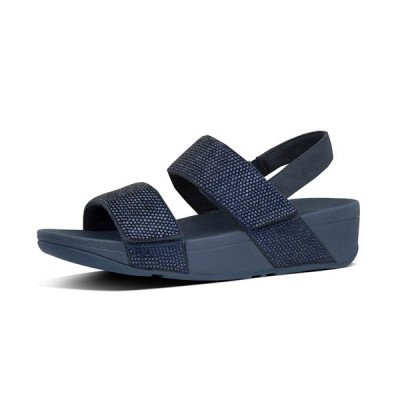 FitFlop FitFlop Mina Crystal Back-Strap sandalen blauw
