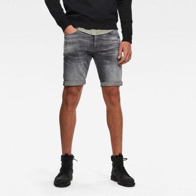 G-Star RAW 3301 Denim Slim Shorts - Zwart - Heren