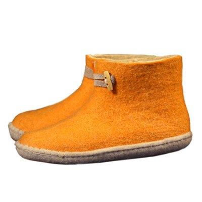 esgii Vilten damesslof High Boots yellow