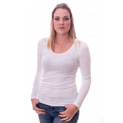Claesens Claesens Women T-shirt o-neck longsleeve White ( 8016)