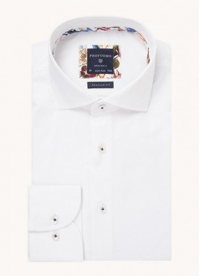 Profuomo Profuomo Regular fit overhemd van katoen