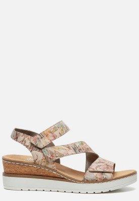 Rieker Rieker Sandalen met sleehak beige
