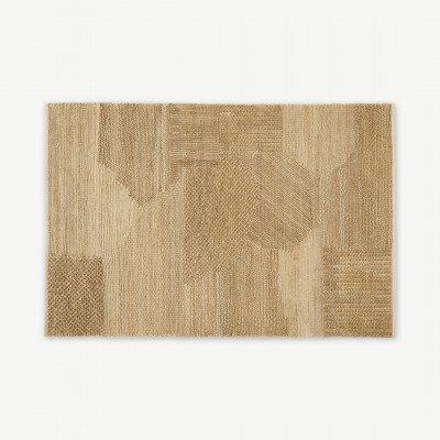 MADE.COM Arlettevloerkleed van jute met textuur, groot 160 x 230 cm, lichtbeige