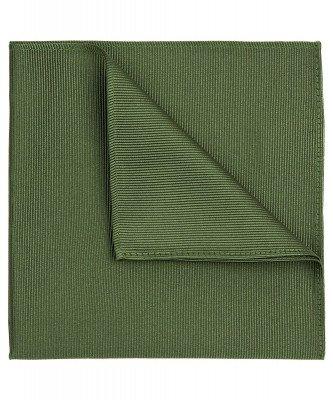 Profuomo Profuomo heren groene uni zijden pochet