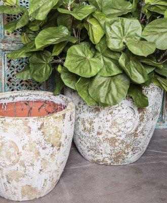 PTMD PTMD Pot 'Salome', Keramiek, 48 x 57cm, kleur Crème