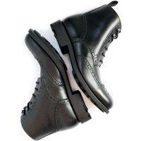 Will's Vegan Shoes Will's Vegan Shoes unisex vegan Brogue Boots Goodyear Welt Zwart Zwart 40 Microfibre (micronappa, microsuède)