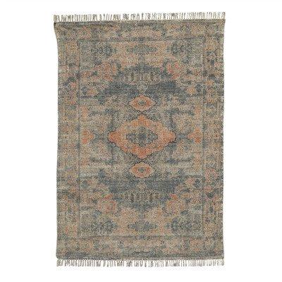 Firawonen.nl PTMD Wise orange katoenen chenille tapijt rechthoek S