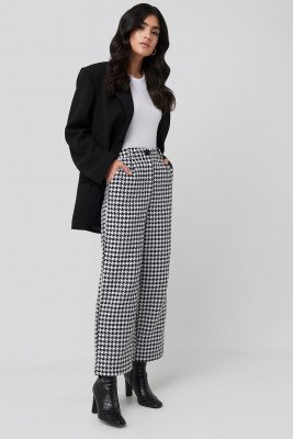 NA-KD Classic NA-KD Classic Big Dogtooth Trousers - Multicolor