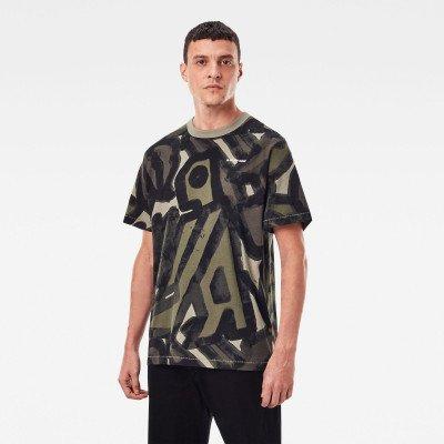 G-Star RAW Brushed Object Allover Loose T-shirt - Meerkleurig - Heren