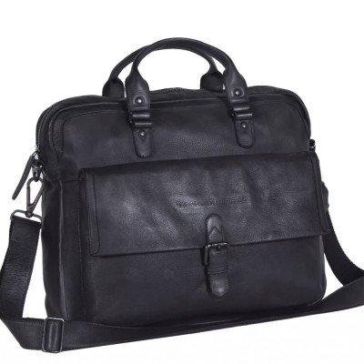 Chesterfield Chesterfield Bags Leren Laptoptas 15 inch Steve Antraciet