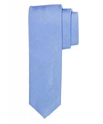 Profuomo Profuomo heren blauwe smalle zijden stropdas
