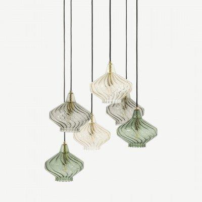 MADE.COM Kaleido plafondlamp, extra groot, groen