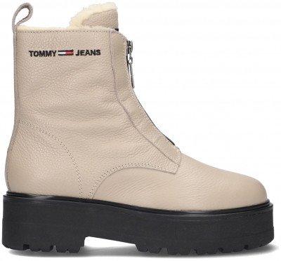 Tommy Jeans Beige Tommy Jeans Enkelboots Warmlined Zipper Boot