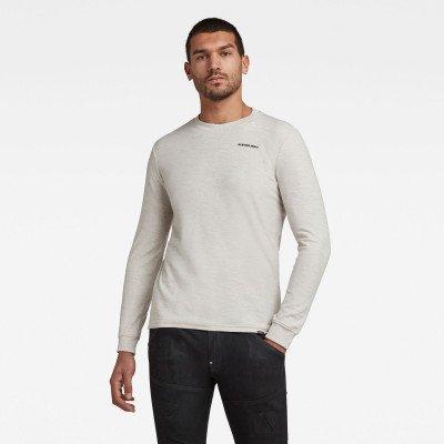 G-Star RAW Textured Stitch Tweater - Wit - Heren