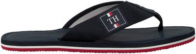 Tommy Hilfiger Blauwe Tommy Hilfiger Slippers Elevated Th Beach