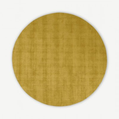 MADE.COM Jago vloerkleed, 200 cm dia, antiek goud