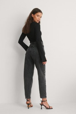 Mango MANGO Mom Jeans - Black