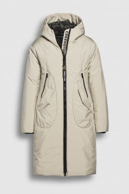 Creenstone Creenstone Technical coat with rounded pocket detail - Pearl