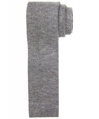Profuomo Profuomo heren grey knitted kasjmier stropdas