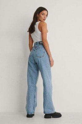 Dr Denim Dr Denim Rechte High Waist Jeans - Blue