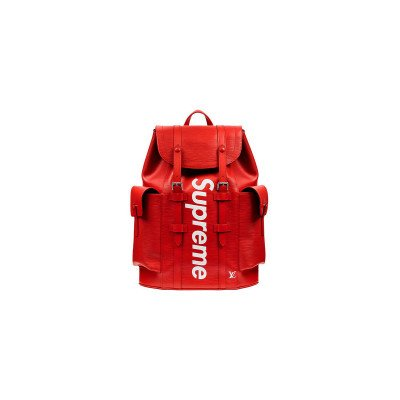 Luxury Luxury x Supreme Christopher LV Backpack EPI PM Red (FW17)