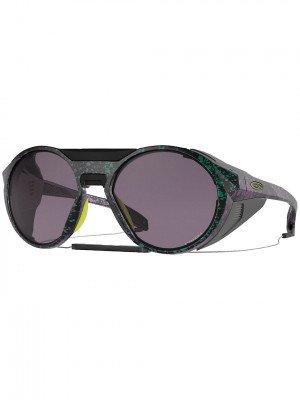 Oakley Oakley Clifden Black Green Purple Splatter Sunglasses zwart