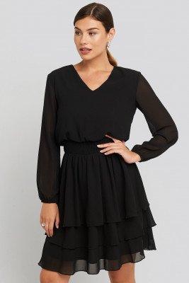 Sisters Point Sisters Point Nicoline-V Dress - Black