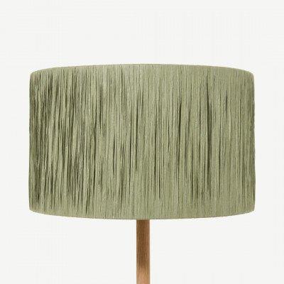 MADE.COM Cruz lampenkap, 40 cm, groen raffia