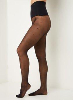 Heist Studios Heist Studios The Polka Dot naadloze panty met stippenprint black
