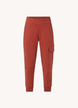 Aligne Aligne High waist tapered fit cropped joggingbroek met opgestikte zakken