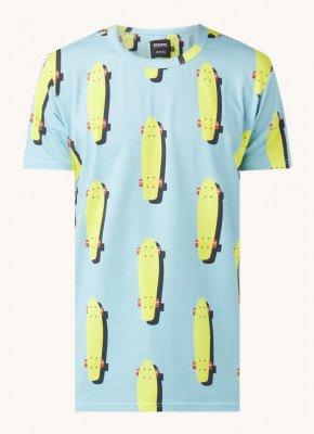 Snurk Snurk Skater pyjama T-shirt van biologisch katoen met print